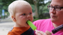 Ephraim and popsicle